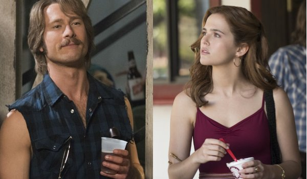 Everybody Wants Some Glen Powell Zoey Deutch partying in the 80's