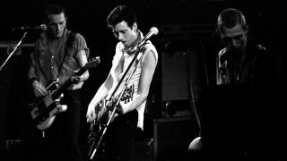 A shot of the Clash onstage