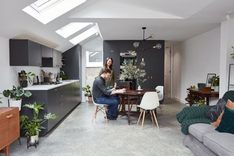 By extending their ground floor flat, Rebecca and Ewan have capitalised on space and embraced open-plan living
