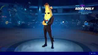A humanoid banana in a suit. Peely from Fortnite.