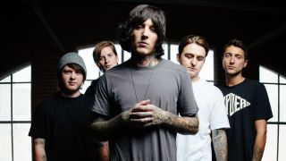 Bring Me The Horizon: Oli Sykes, centre, Jordan Fish, far right