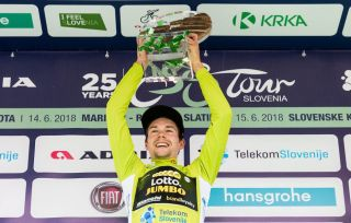 Primoz Roglic wins the 2018 Tour of Slovenia.