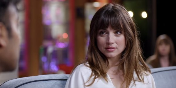 Yesterday Ana De Armas' Roxanne, watching Jack sing on the Late Late Show couch