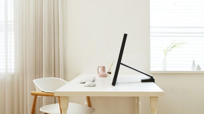 space saver monitor in home office by samsung