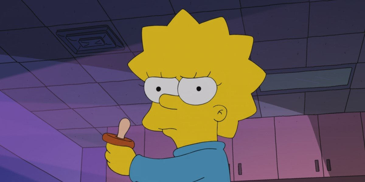 maggie using pacifier as light saber in the simpsons star wars short