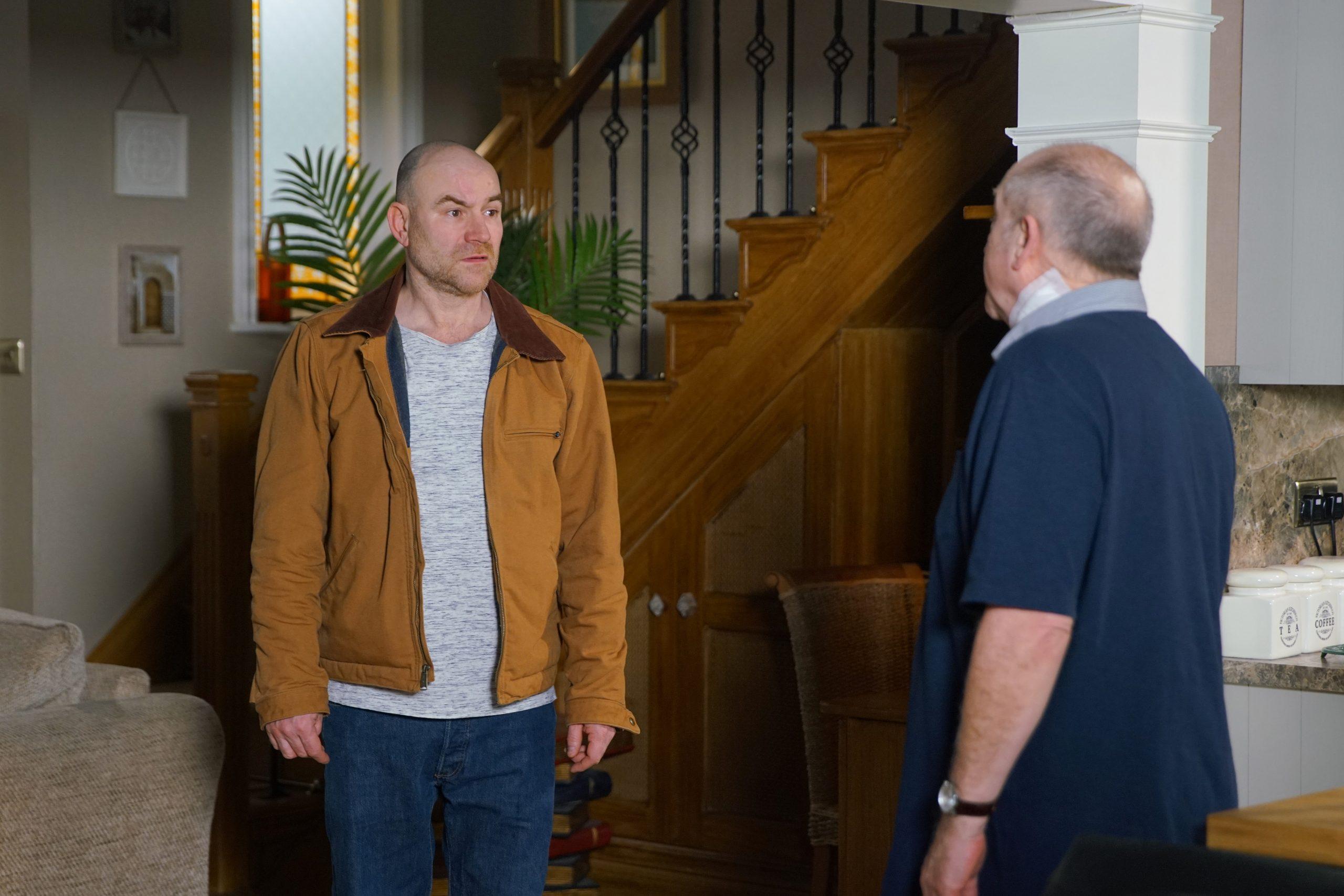 Spoiler de Coronation Street: ¿Tim Metcalfe ha atrapado a Geoff con las manos en la masa?