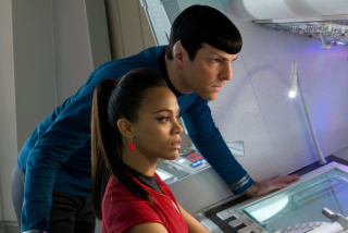 "Still Image of Spock and Uhura From ""Star Trek Into Darkness"" Film"