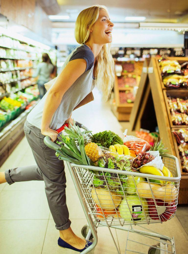 shopping trolley fruit