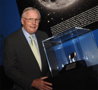 NASA Honors Neil Armstrong with Moon Rock Award