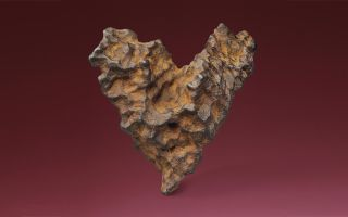heart of space meteorite