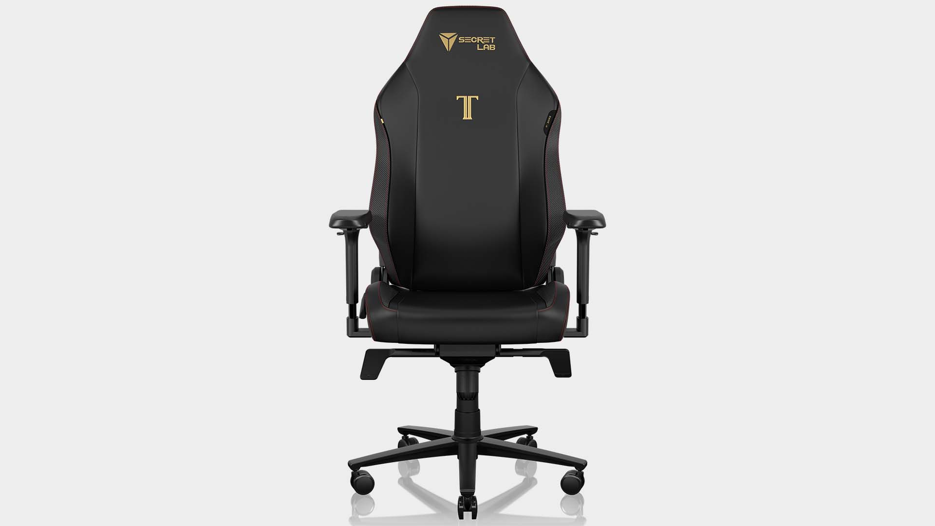 Secretlab Titan Evo 2022 gaming chair on a grey background at various 360° angles.