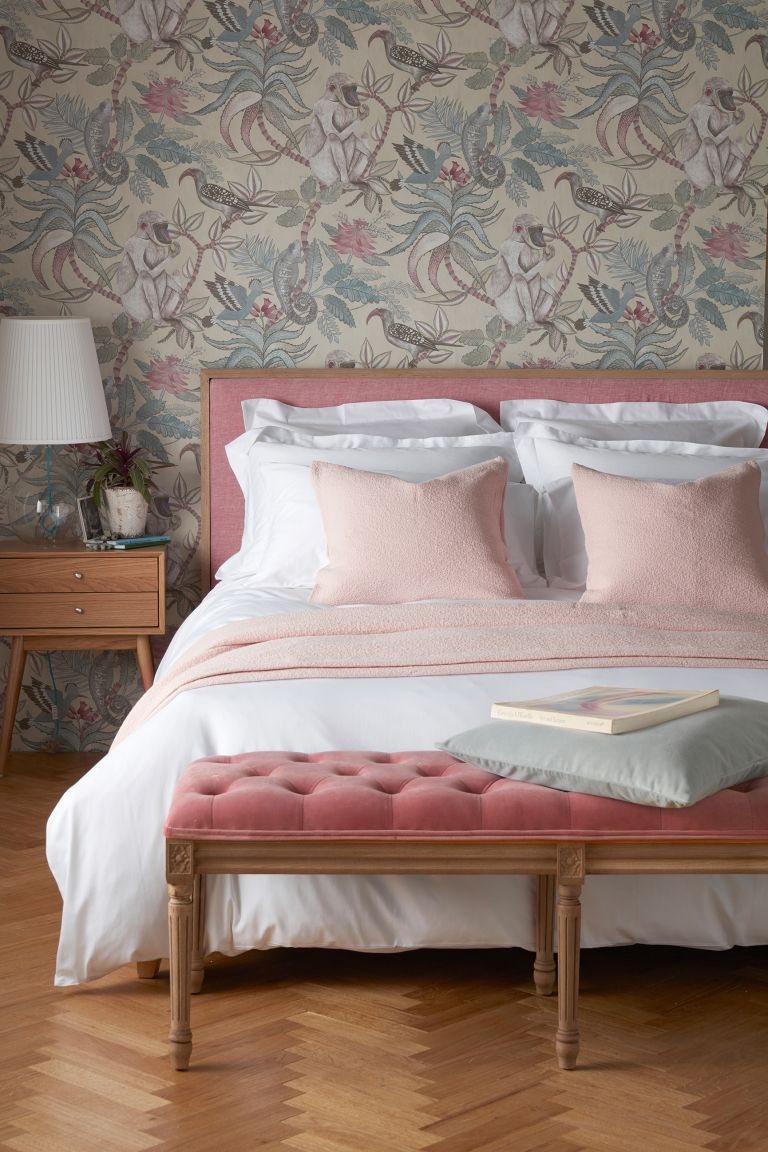 pink and grey bedrooms