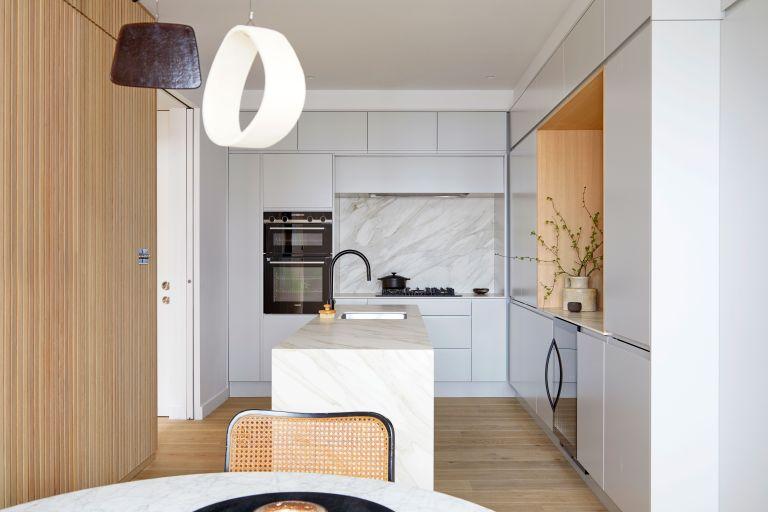 Modern London mew house with neutral minimalist interiors
