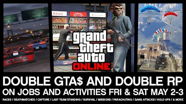 GTA 5 Double Progression Weekend