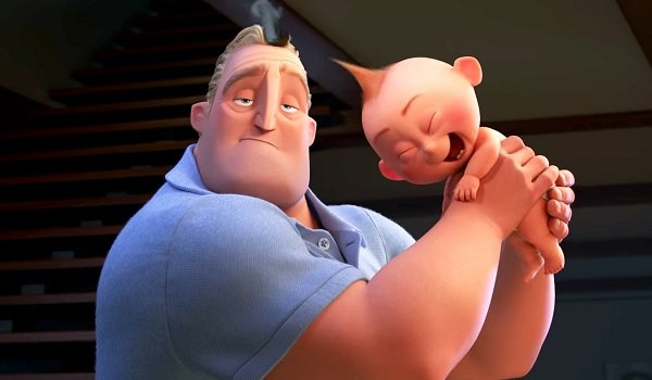 The Incredibles 2 Jack Jack laughs at his dad's haircut