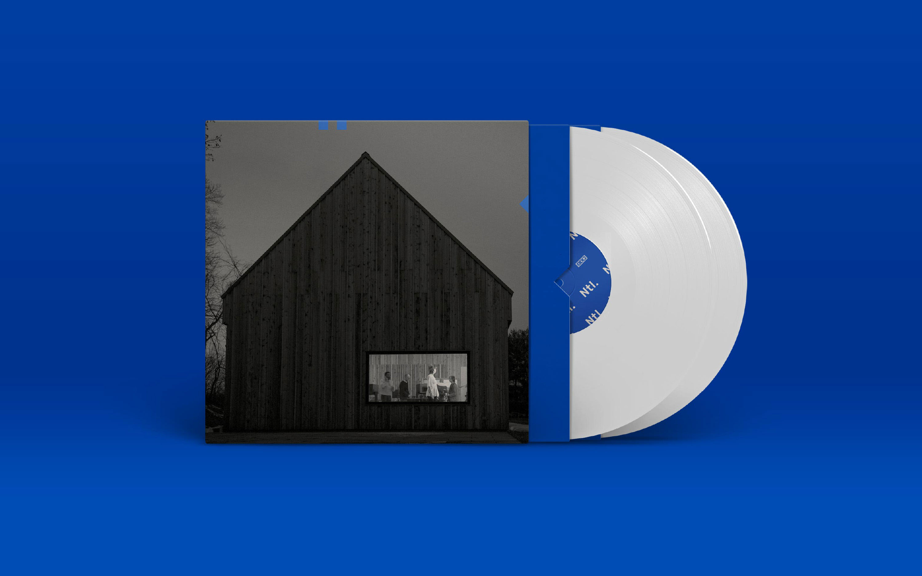 The National CD case on blue background