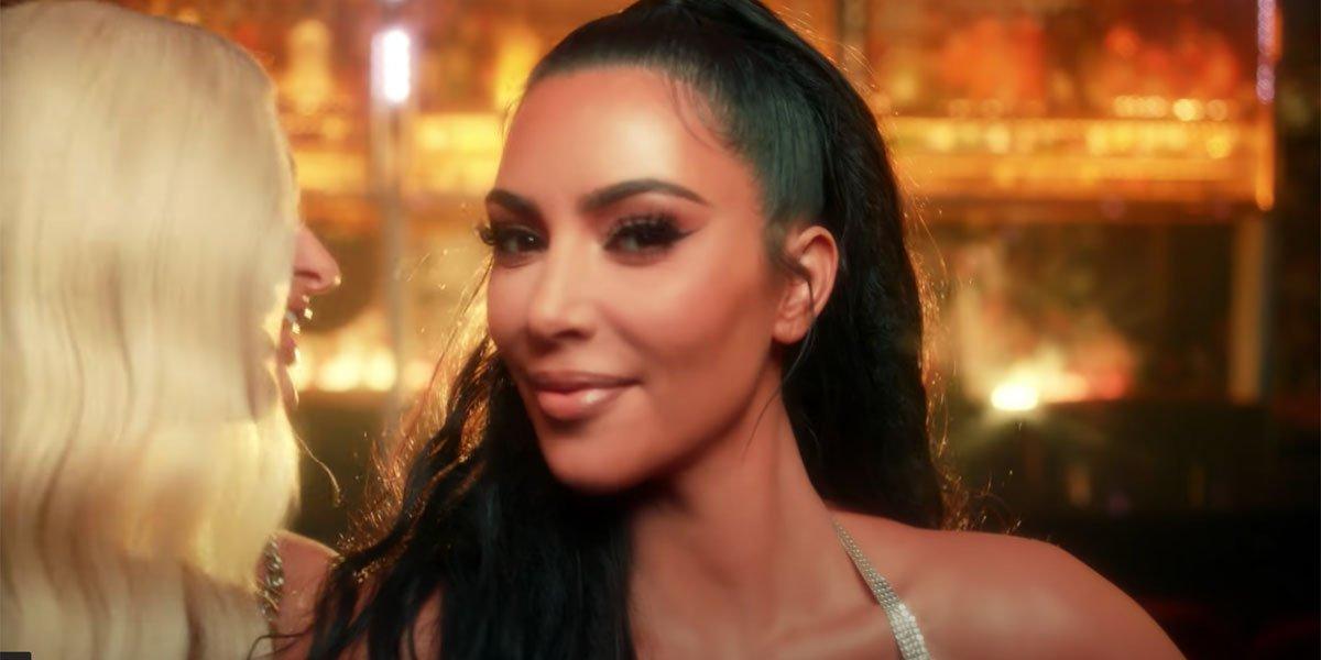 Kim Kardashian and Paris Hilton in 2019 music video still