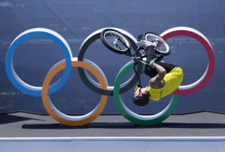 TOKYO JAPAN AUGUST 01 Logan Martin of Team Australia competes in the during the Mens Park Final run 1 of the BMX Freestyle on day nine of the Tokyo 2020 Olympic Games at Ariake Urban Sports Park on August 01 2021 in Tokyo Japan Photo by Jamie SquireGetty Images