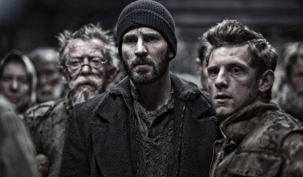 Snowpiercer John Hurt Chris Evans and Jamie Bell look rather worried and banged up