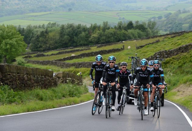 Team Sky recce the roads of Yorkshire ahead of the 2014 Tour de France