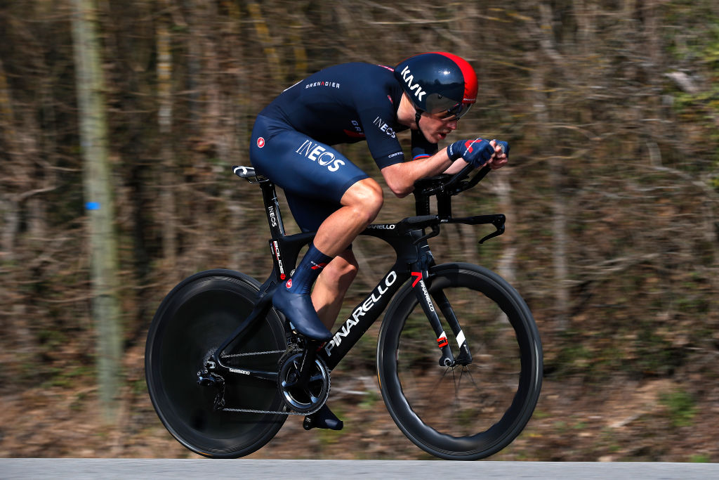 GIEN FRANCE MARCH 09 Rohan Dennis of Australia and Team INEOS Grenadiers during the 79th Paris Nice 2021 Stage 3 a 144km Individual Time Trial stage from Gien to Gien 147m ITT ParisNice on March 09 2021 in Gien France Photo by Bas CzerwinskiGetty Images