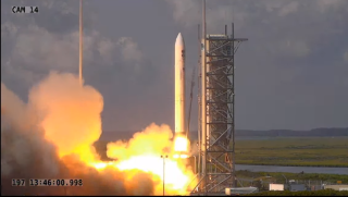 A Northrop Grumman Minotaur IV rocket launched from NASA's Wallops Flight Facility on the mission NROL-129 on July 15, 2020.