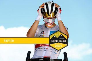 Tadej Pogacar (UAE Team Emirates) at the 2021 Tour de France