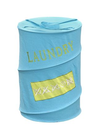 A collapsible laundry hamper