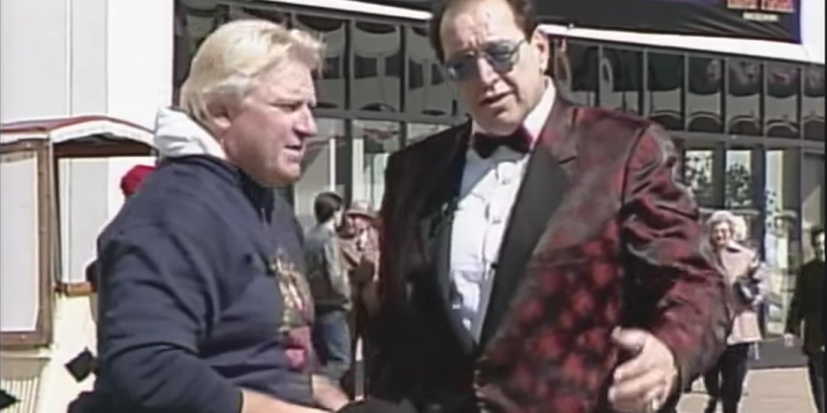 Bobby Heenan and Gorilla Monsoon preparing for WrestleMania