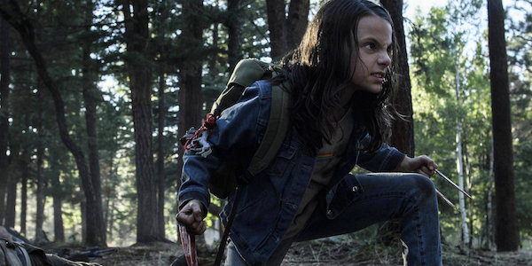 Laura with her claws out in Logan