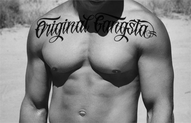 Best free fonts: Original Gangsta