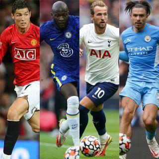Cristiano Ronaldo, Romelu Lukaku, Harry Kane and Jack Grealish