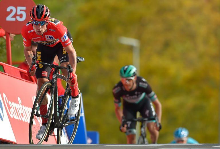 Primoz Roglic at the 2020 Vuelta a España