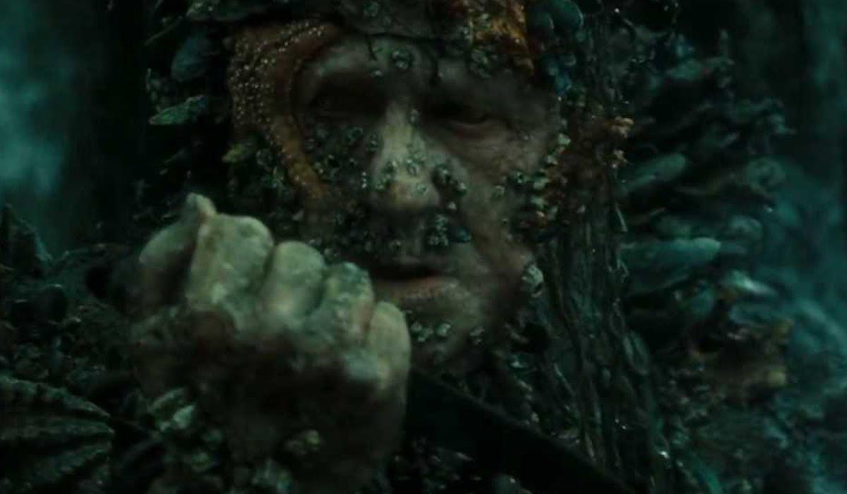 Stellan Skarsgard as Bootstrap Bill on Flying Dutchman in Pirates of the Caribbean