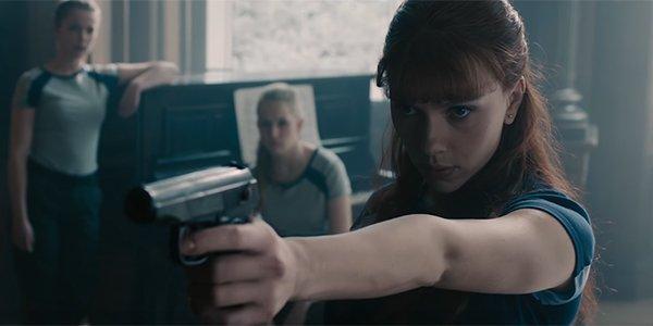 Black Widow flashing back to her training