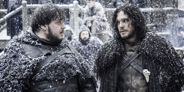 game of thrones samwell tarly jon snow