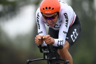 Polish time trial champion Kamil Gradek