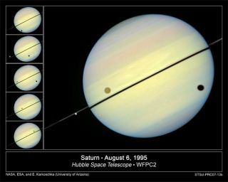 Hubble Catches Saturn's Orbital Dance in New Movies