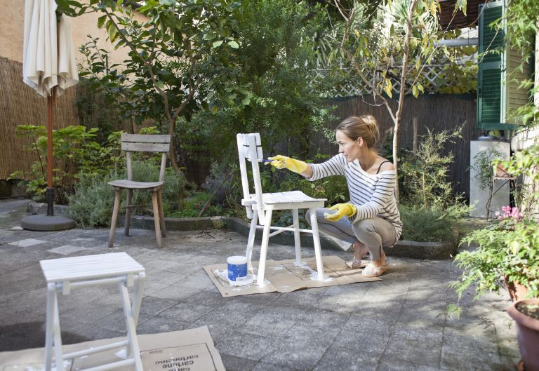 Painting garden furniture is a great way to refresh your outside space