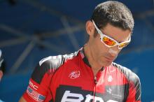 BMC's George Hincapie at race sign in.