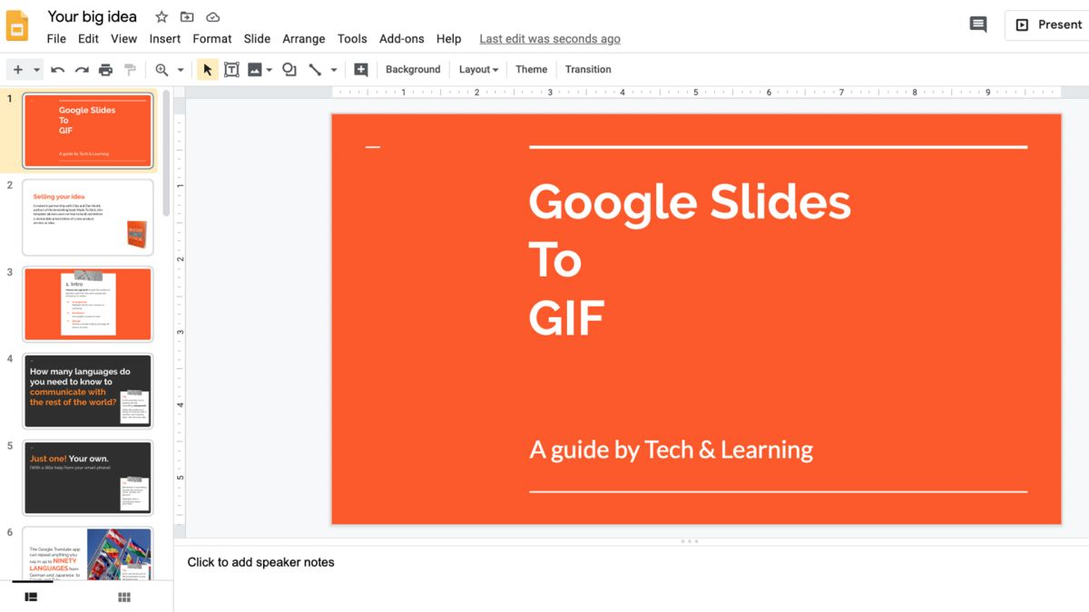 How To Turn Google Slides Into An Animated Gif For Free Tech Learning