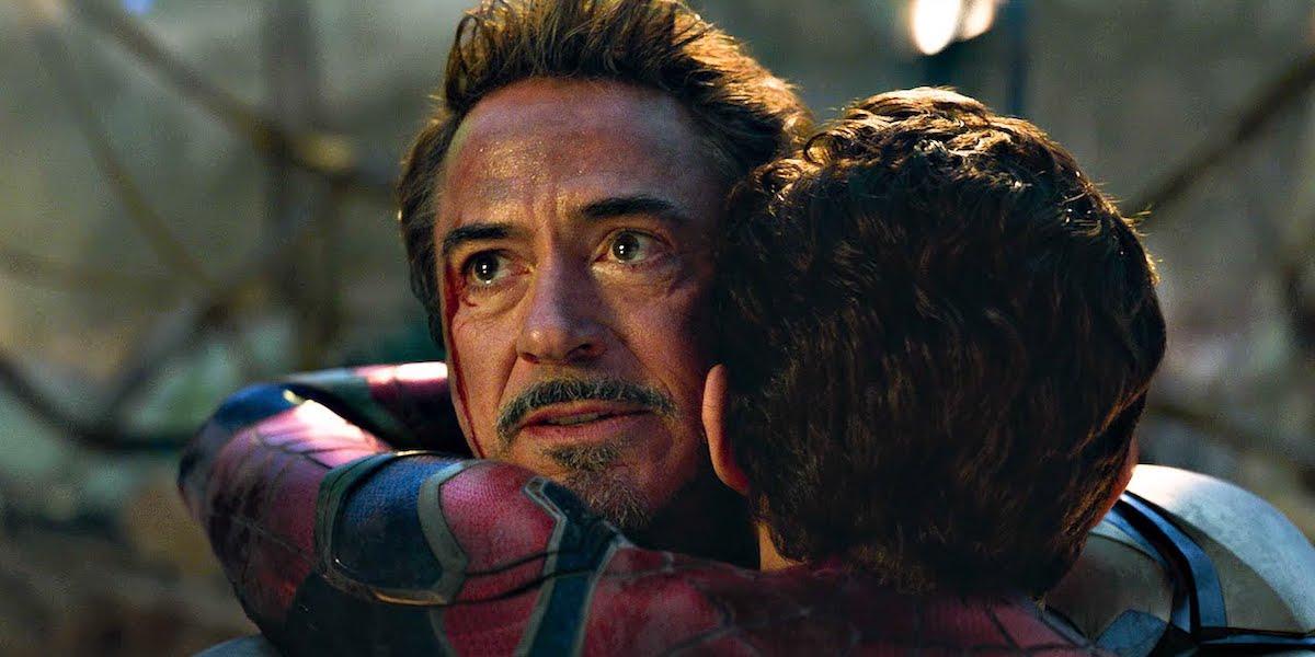 RDJ in hugging Holland in Avengers: Endgame
