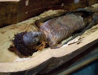 mummy Maiherpri in sarcophagus
