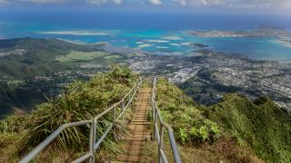 The Haiku Stairs in Honolulu with almost 4000 steps to offer views of the islands