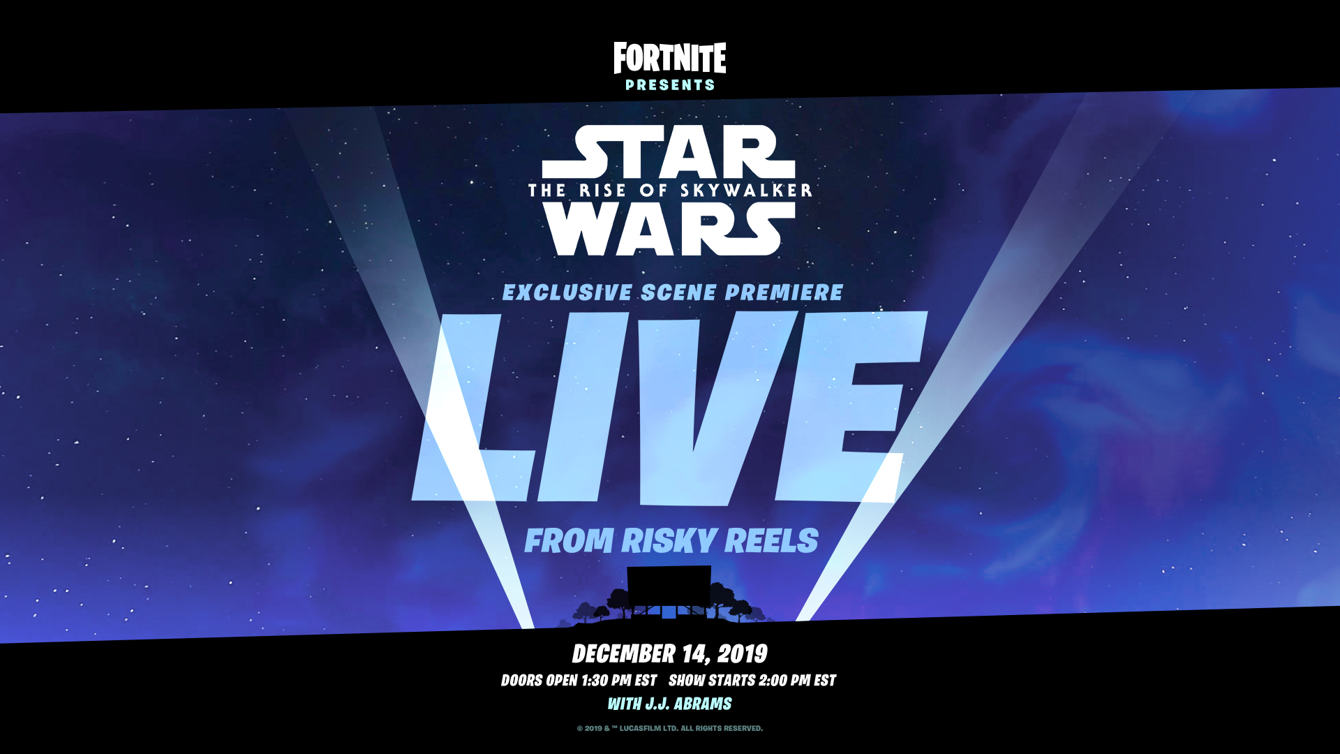 Fortnite Star Wars Event When Is It Where Is Risky Reels How To Watch The Exclusive Rise Of Skywalker Clip Gamesradar