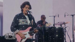 John Mayer performing on Jimmy Kimmel Live