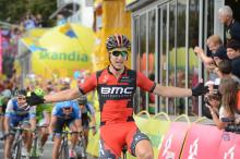 Taylor Phinney (BMC) celebrates his victory in Tour of Poland