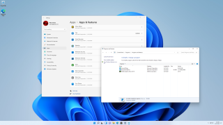 Windows 11's old and new control panels