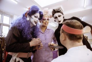 Anna Phylactic, Tete Bang, Liquorice Black and Slater King in Drag SOS's