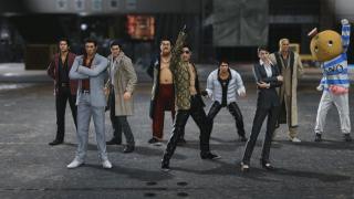 An image of the full cast of Yakuza Kiwami 2